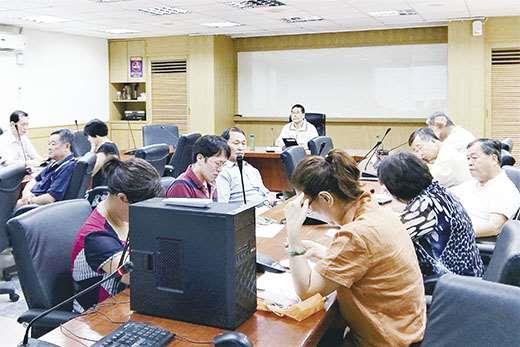 福建省政府召開年中工作檢討會,由秘書長翁明志主持。 (福建省政府提供)