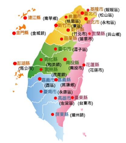 全國22縣市節電冠軍地圖