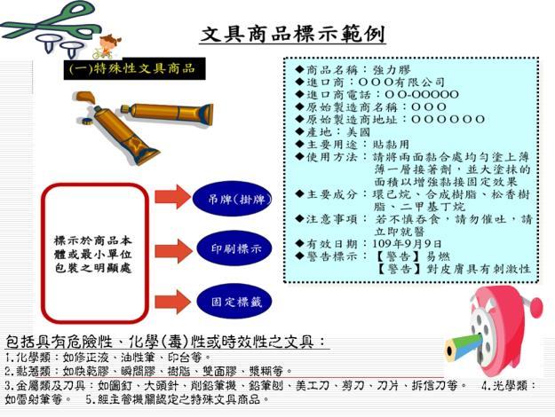 文具商品標示範例-特殊性1603436817619