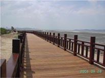 人行木棧橋完工後照片