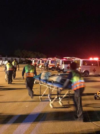 1091022 辦理金門航空站109年度機場內夜間空難災害防救演習2