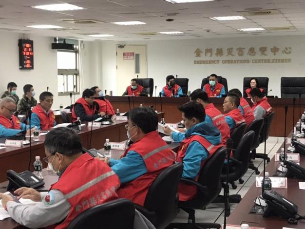 1090302 召開金門縣嚴重特殊傳染性肺炎疫情指揮中心會議2