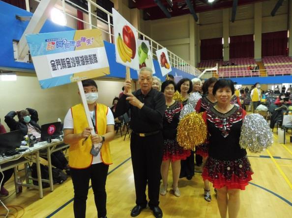 1091211 金門縣組隊參加衛生福利部國民健康署舉辦之「2020阿公阿嬤逗陣來全國總決賽」,榮獲全國最佳團隊獎1