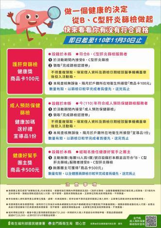 金門縣衛生局-BC型肝炎篩檢宣導-1