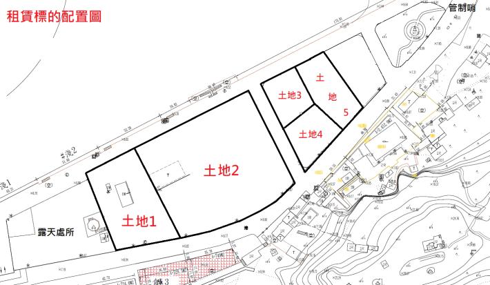 淺水碼頭後線土地配置圖