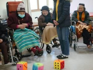 養護住民休閒娛樂活動-擲骰子比大小