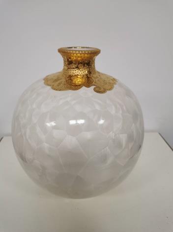 陶瓷廠新品更新-新金彩結晶及裂紋釉
