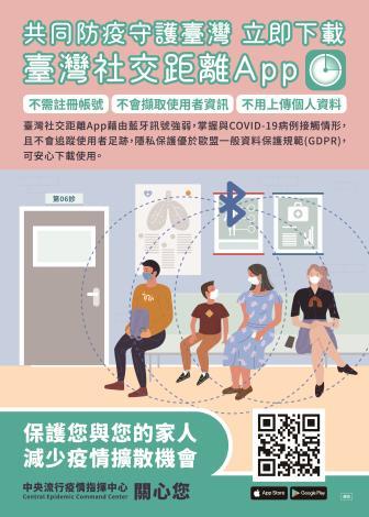 「臺灣社交距離App」宣導海報_1100427