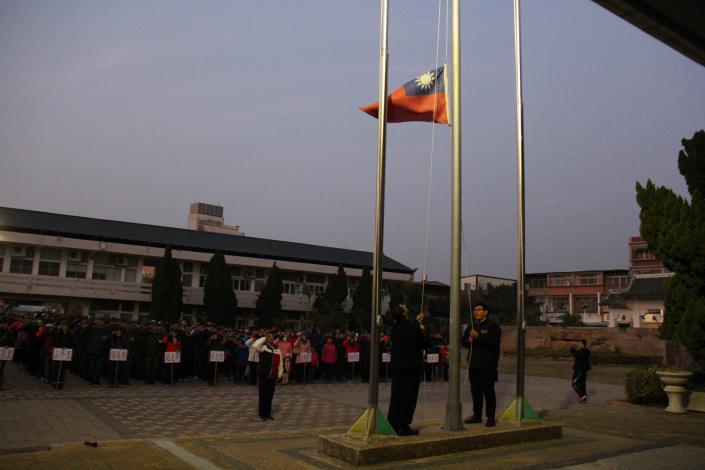 105年元旦升旗