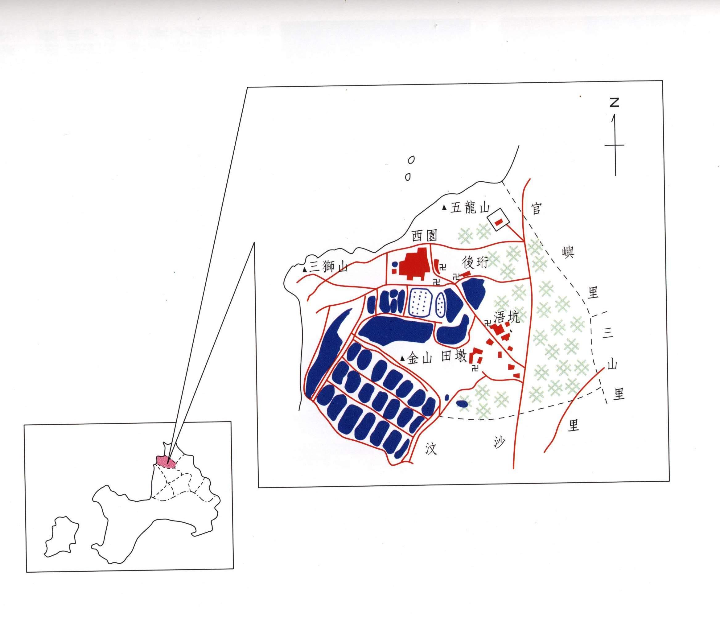 金沙鎮公所-西園里區域圖