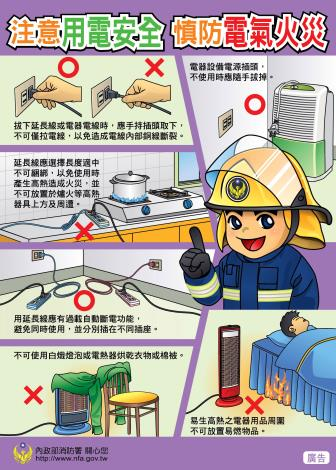 內政部消防署-用電安全宣傳海報