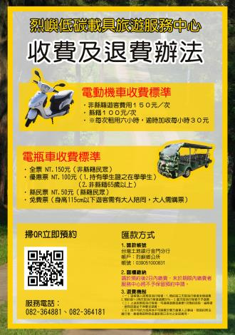 旅服中心海報-收費及退費辦法 優惠S1